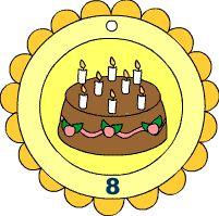 Geburtstagsmedaille 8 und 9