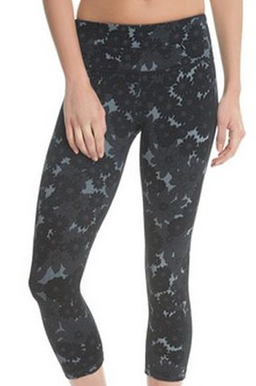 Private Label Manufacturer Black and Grey Print Yoga Tights