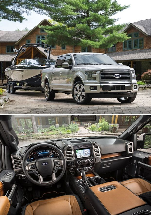 2016 Ford F-150 Limited -- Ford is calling the 2016 F-150 Limited a truck that could substitute for a higher end German sedan. It's Mojave leather everywhere, massaging seats, eucalyptus wood grain, & 360º driver-assist cameras. And yet still an actual truck; powered by a 3.5-liter EcoBoost V6 with 365 horsepower & 420 pound-feet of torque.