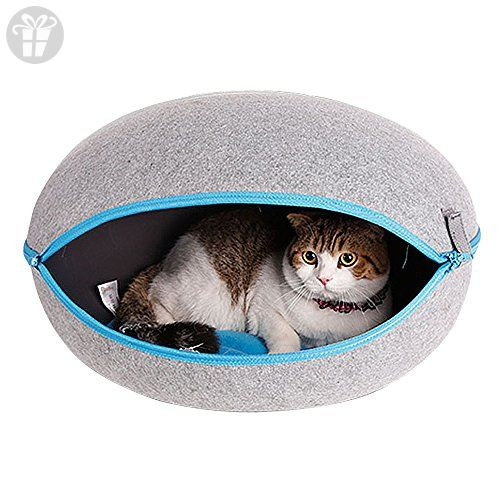 CocoGo® Nature Egg Shape Cozy Felted Caves for Cat Small Dog (Grey) (*Amazon Partner-Link)
