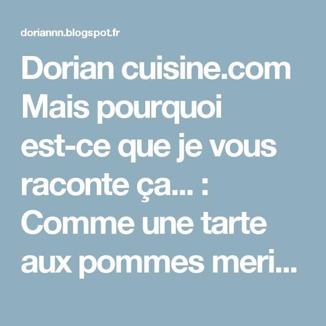 Dorian cuisine.com Mais pourquoi est-ce que je vous raconte ça... : Comme une tarte aux pommes meringuée au caramel de beurre salé dans un bocal… parce que j'ai l'appétit voyageur…