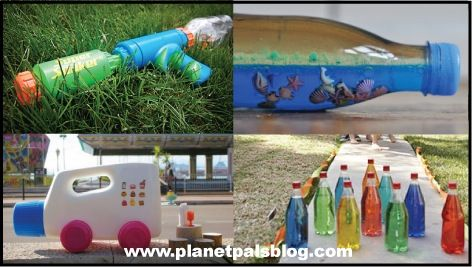 Play In A Bottle, Recycled That is!  DIY Crafts and toys made with plastic bottles