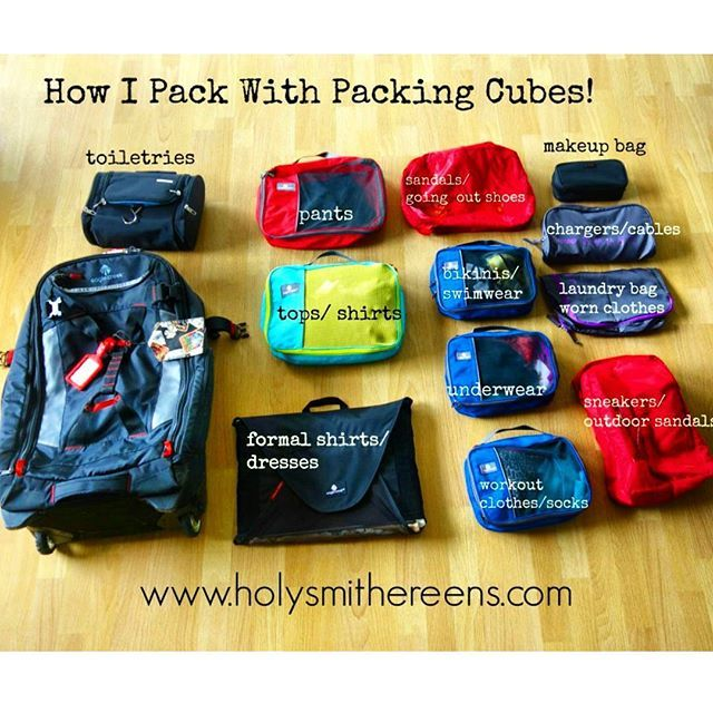 How I Pack with Packing Cubes, Eagle Creek Load Warrior 28, and a Giveaway! | Holy Smithereens!