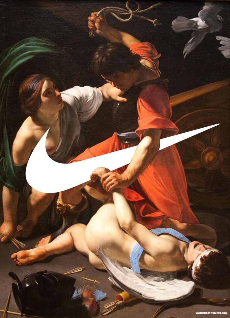 Détournement de l'art en publicité http://abduzeedo.com/swooshart-nike-meets-classic-art