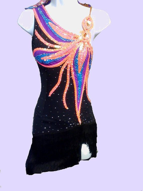 Latin dance dress by DesignByNatasha on Etsy