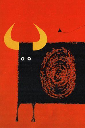 bull illustration, via typetoy.tumblr.com