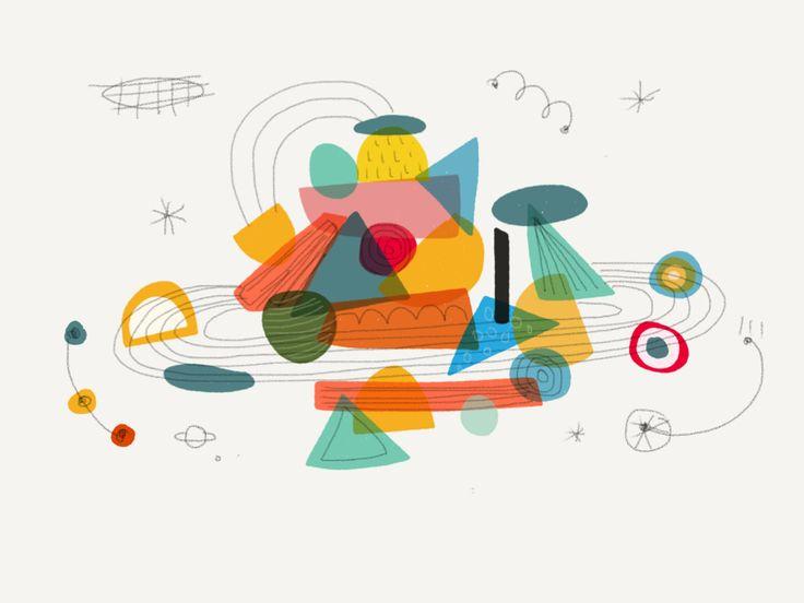 Sábado, sol y Galería. La tercera ilustración de Ceci Moreno.  A partir del juego que Ceci propone, creando espacios y combinando colores, líneas y formas, nos preguntamos si en algo se parecen la cocina y la ilustración. ¿Se sigue alguna receta para...