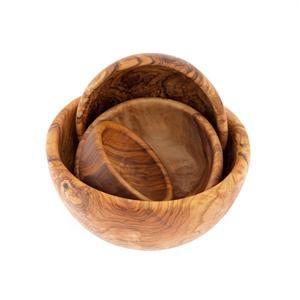 Olive Wood Bowls Set