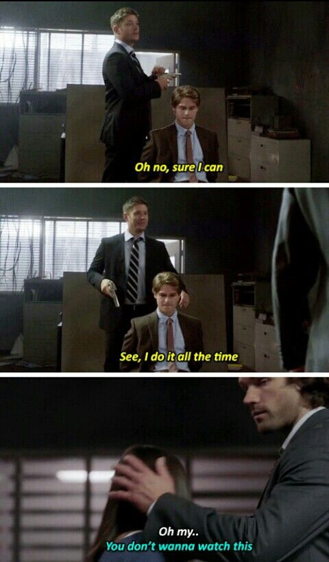 """""""Wait, you can't just shoot him?"""" Supernatural 12x05 #whatshowhaveyou been watching"""
