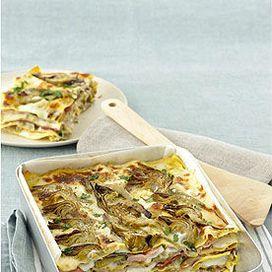 Lasagne di castagne con speck e zucca
