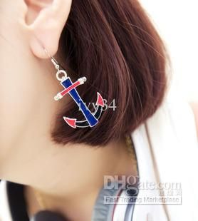 Buy cheap Anchor studs woman earrings fluorescent color Lady Earrings Free Shipping 20pcs/lot with $0.98-1.48/Piece|DHgate
