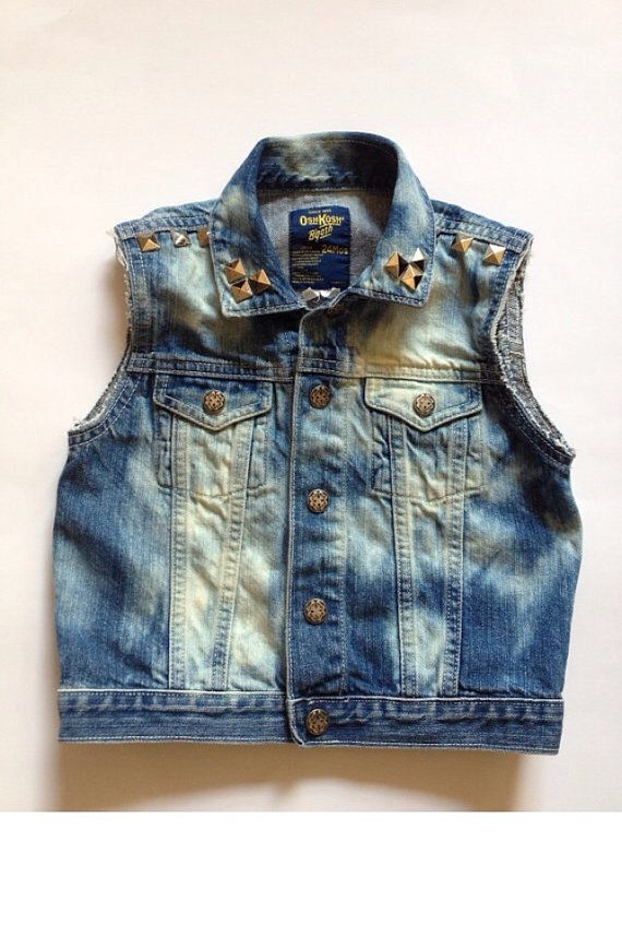 Baby Child Jean Vest   Toddler Jean Vest  by CurlyQsCounter, $30.00
