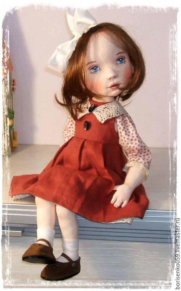 Купить Кукла коллекционная - коричневый, кукла коллекционная, кукла ручной работы, лариса борисенко, подарок