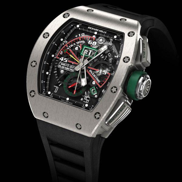 La Cote des Montres : Prix du neuf et tarif de la montre Richard Mille - RM 011 - RM11-01 Ti Roberto Mancini 549.45.91-1