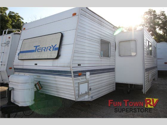 Used 1999 fleetwood rv terry 26rb travel trailer at fun town rv