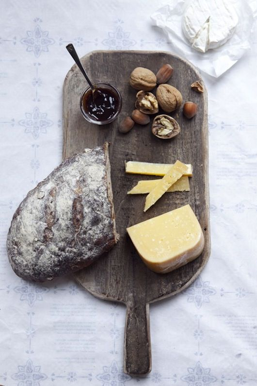 The secret to a good cheese board? Put what you like on it, add cheese you like. Present with confidence. Ta da!