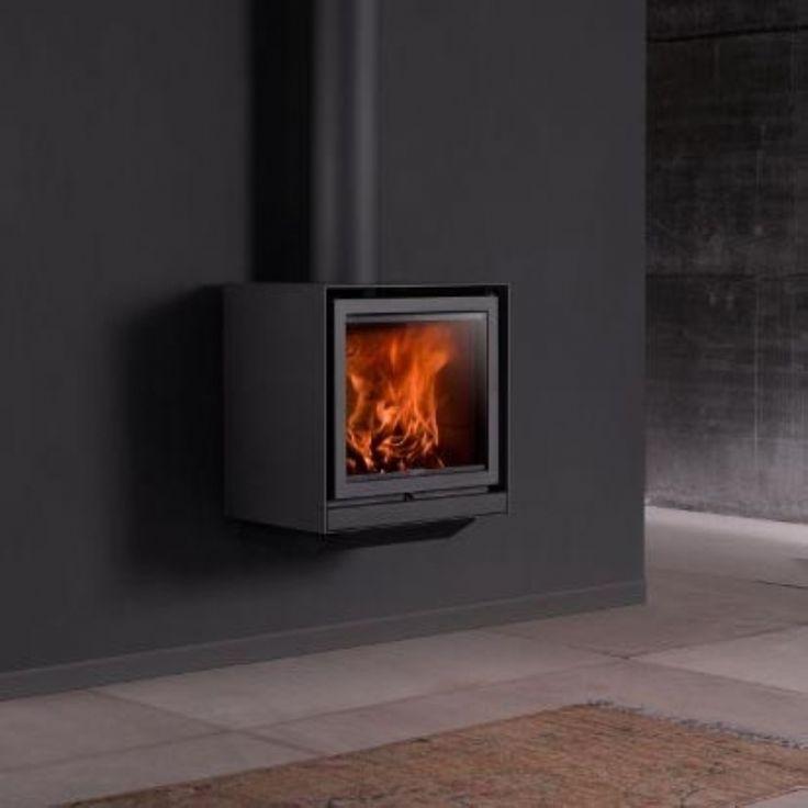 Stuv 16 up #KernowFires #stuv #fireplace #woodburner #stove #cornwall #wallhung #contemporary