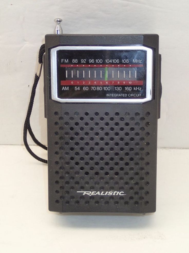 vintage realistic transistor radio 12 634 am fm radio shack works great ebay electronics. Black Bedroom Furniture Sets. Home Design Ideas