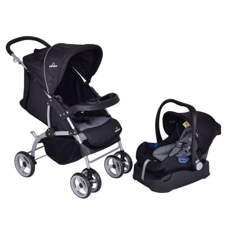 Description: This is our brand new 3 in 1 travel stroller, which features with a child car safety seat. Three functions could be achieved here: common... #pram #child #safety #seat #stroller #baby #steel #travel #system #foldable