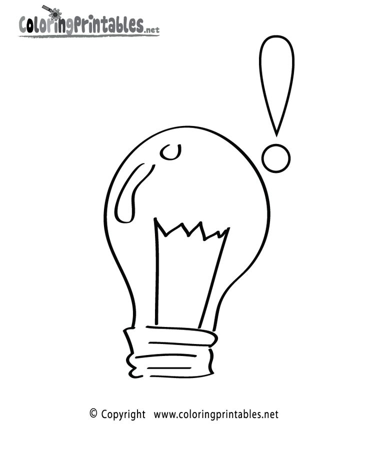 science light bulb coloring page a free science coloring printable