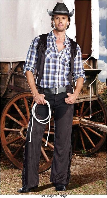 Handsome Cowboy Costume for Men for $45.00  (available up to size Xlarge) Halloween! My Favorite Holiday :) | handsome guys picture handsome cowboys