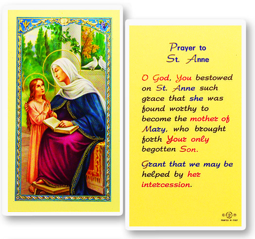 Regina's Catholic Gifts - PRAYER TO ST ANNE -PACK OF 25, $19.00 (http://www.reginascatholicgifts.com/prayer-to-st-anne-pack-of-25/)