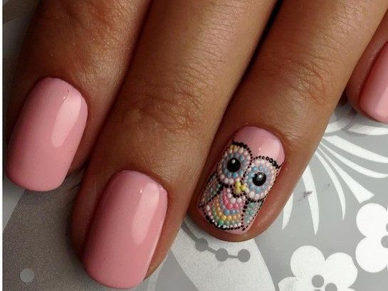 An Owl! Gel nailart designs 2016-2017 | Gag Fire https://www.facebook.com/shorthaircutstyles/posts/1759748787648894