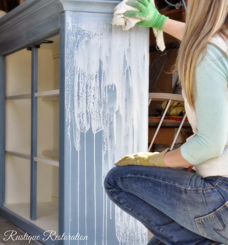 DIY White Glaze how to:  at Rustique Restoration