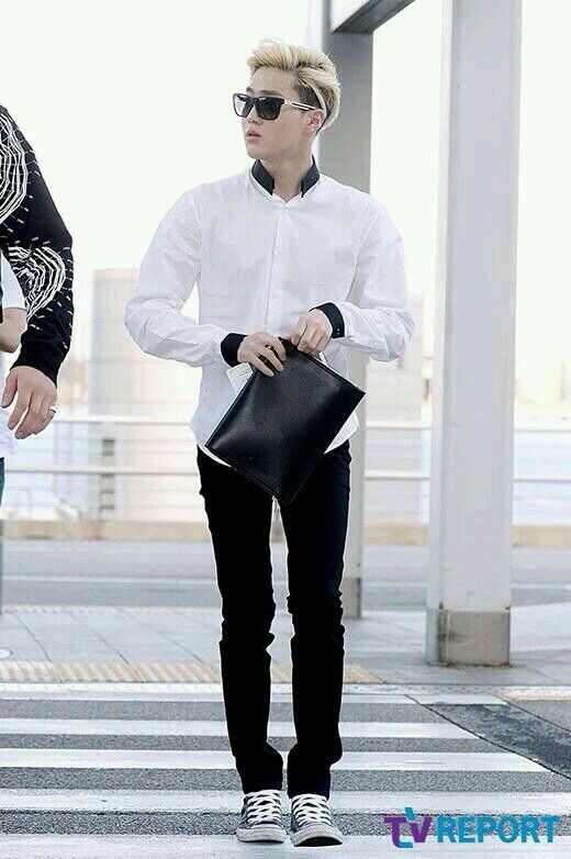 140704- EXO Suho (Kim Joonmyun) @ Incheon Airport to ...