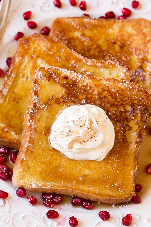 Eggnog French Toast from Cooking Classy - this recipe is perfect for Christmas morning or a holiday brunch.