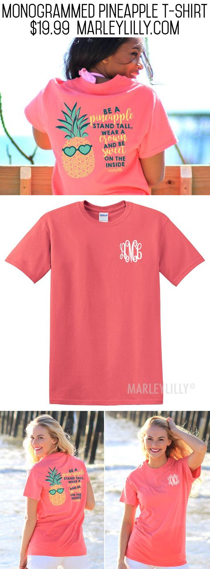 #SALE! Get this Monogrammed Pineapple T-Shirt while you can before they are…
