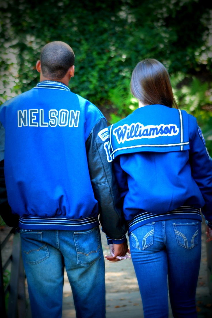 Senior couple pictures with their lettermans :))
