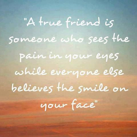 So true!  and sometimes even when you are smiling, friends get too upset that you're happy in this situation - and they don't stop to look at your eyes.  Sometimes seeing all that pain all the time is just more than the ones who really love you can bear... And they are upset you've placed yourself, or been forced into that situation again!