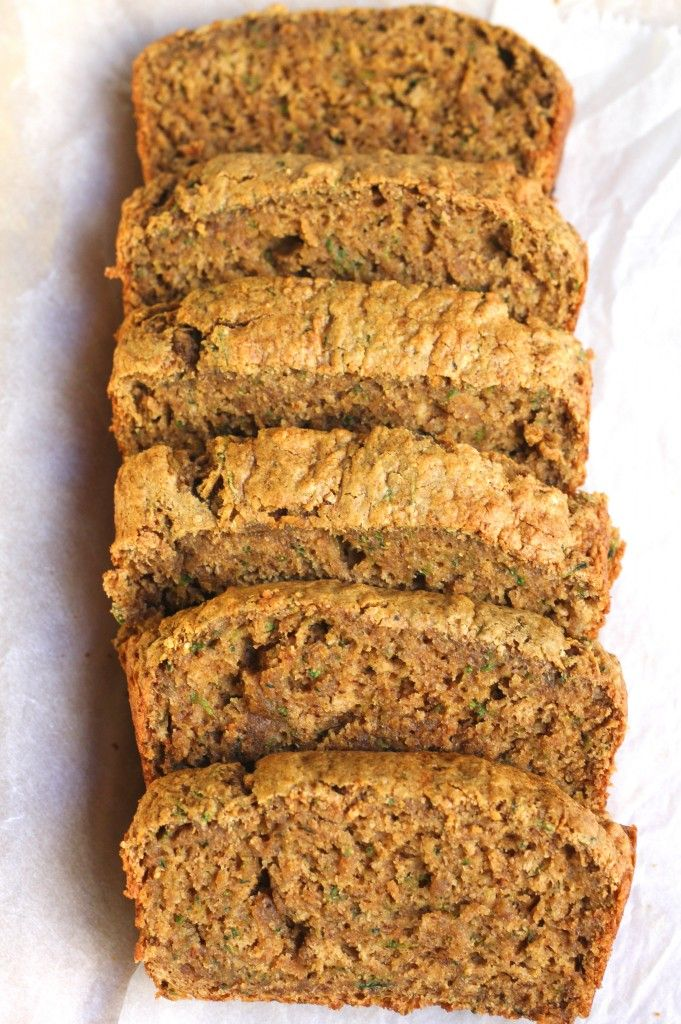 This Oil-Free Healthy Zucchini Bread is soft, moist and speckled with delicious green zucchini. Vegan, Oil-Free.