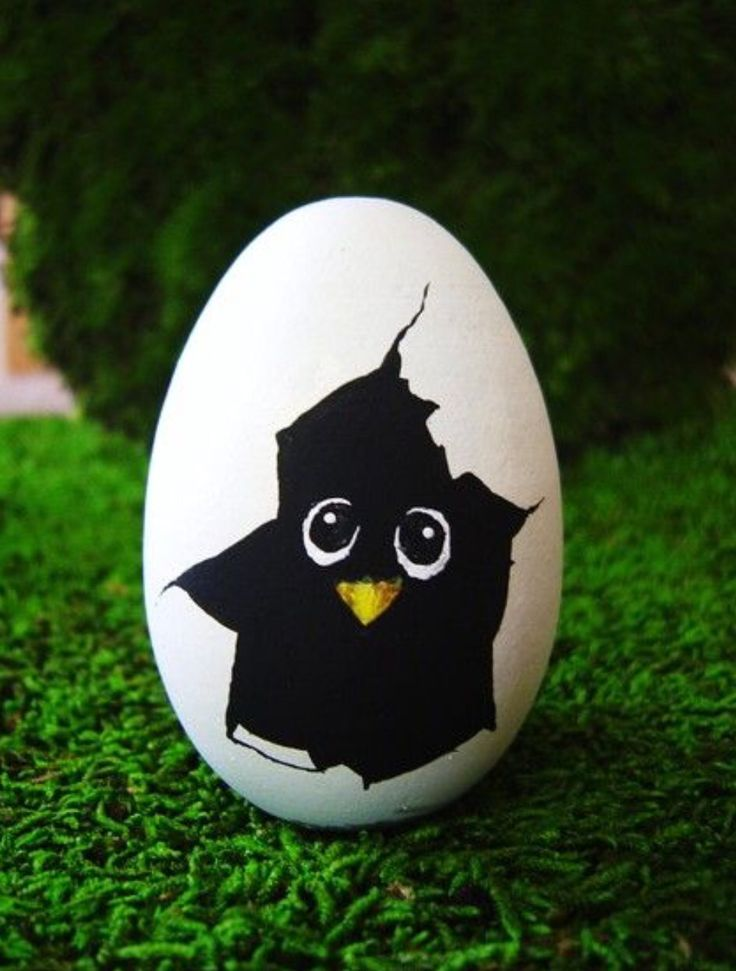 Draw a face on your hard boiled egg with acrylic paints or sharpies!