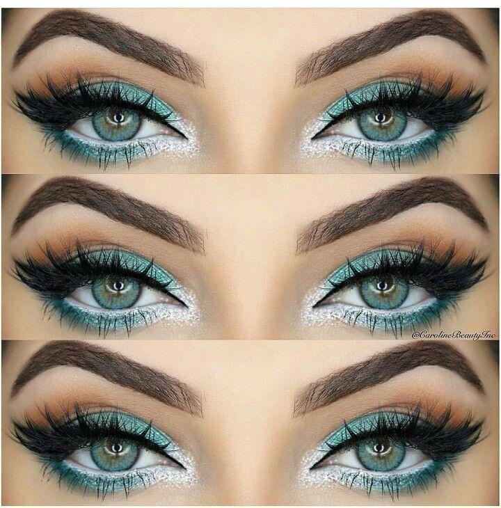 Wie Rock Make-up für grüne Augen & Make-up-Ideen, Tutorials –  #Augen #für #G…