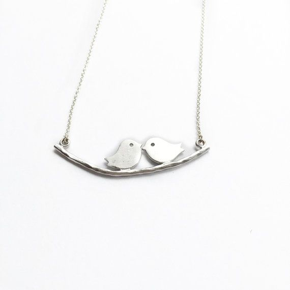 Love Bird ketting, zilveren Love Bird ketting, zilveren vogel ketting, Love ketting zilver, vogel zilveren ketting, Bird ketting zilver