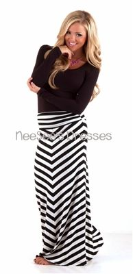 36 best images about Black & white striped maxi skirt on Pinterest ...