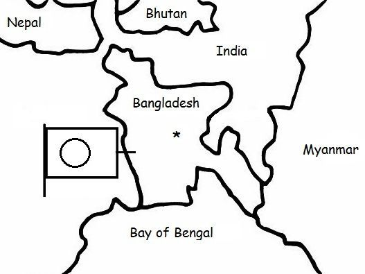 Bangladesh Printable Handout With Map And Flag Geography