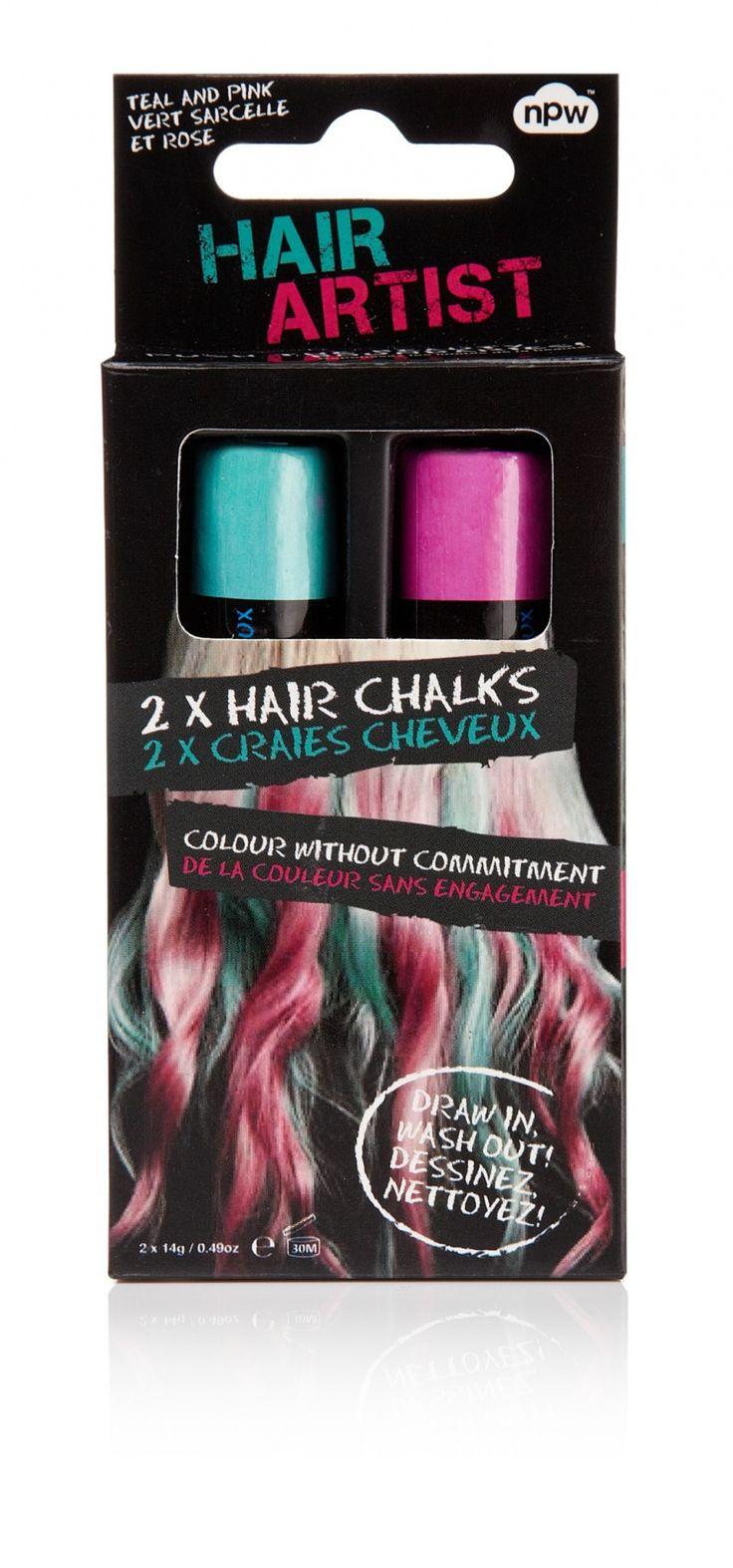 set de 2 craies de coloration temporaire pour cheveux une verte et une rose - Dcoloration Cheveux Colors