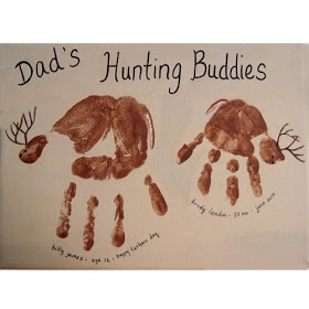 Handprint Dad's Hunting Buddies