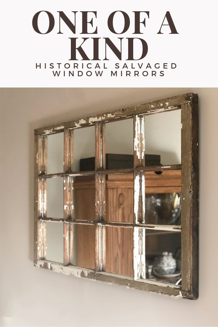 Window Frame Wall Mirrors Add A Touch Of Unique History To Any Home Rustic Mirrors Wall Mirror Decor Living Room Mirror Wall Decor
