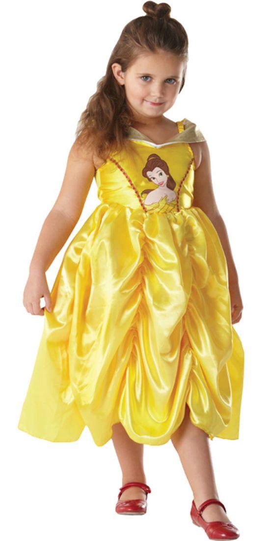 Girls Disney Belle Beauty The Beast Princess Book Week Fancy Dress Costume