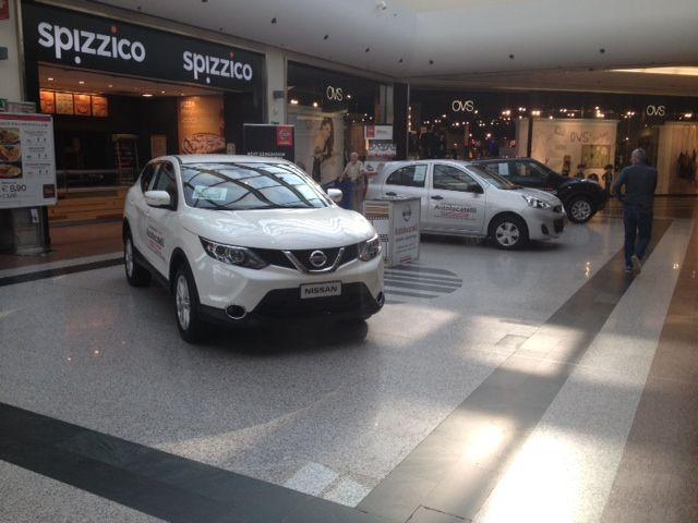 Ecco le nostre Nissan al Centro Comemrciale Carosello di Carugate, siamo presenti dal 15 al 21 Settembre