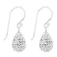 Simply Silver Sterling silver crystal embellished teardrop earring   Debenhams
