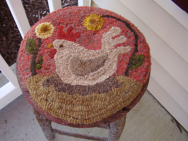 High Quality Cute Rooster Chair Pad