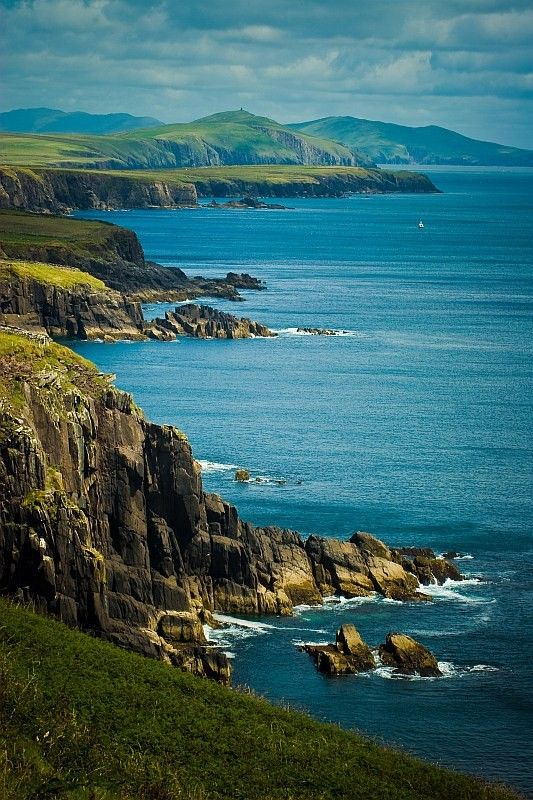 "Dingle, Ireland. Once described by the National Geographic Traveler as ""the most beautiful place on earth"":"