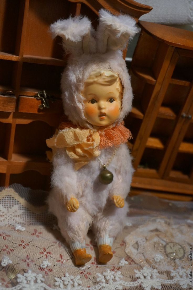 Купить Мальчик-Зайчик тедди долл - бежевый, тедди долл, тедди, тедди мишка