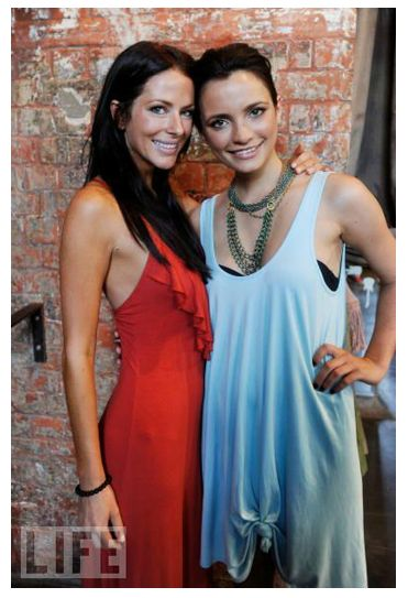 Esther Anderson from Home and Away looking fabulous in our Tango Casablanca dress!
