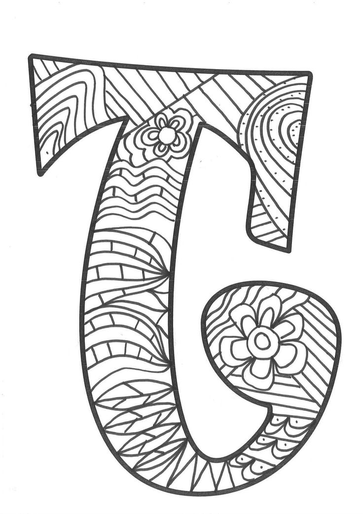 Mandaletras mandalas súper originales con las letras del
